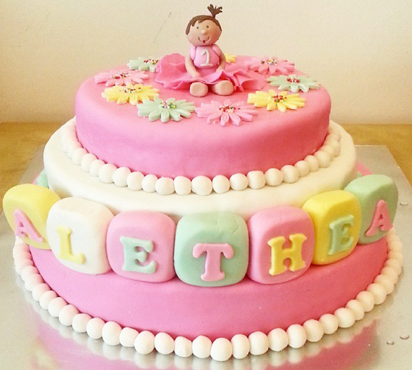 Birthday Cake With Baby Girl Image Inspiration of Cake and