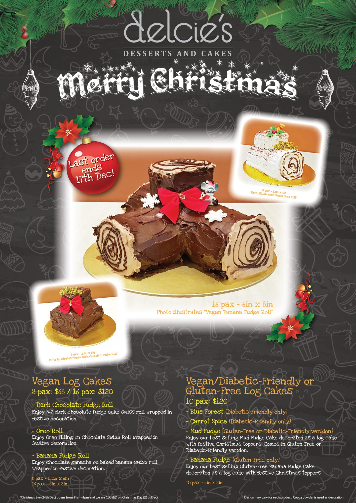 Cake Decorating Company Voucher Code : christmas   Delcies Desserts and Cakes