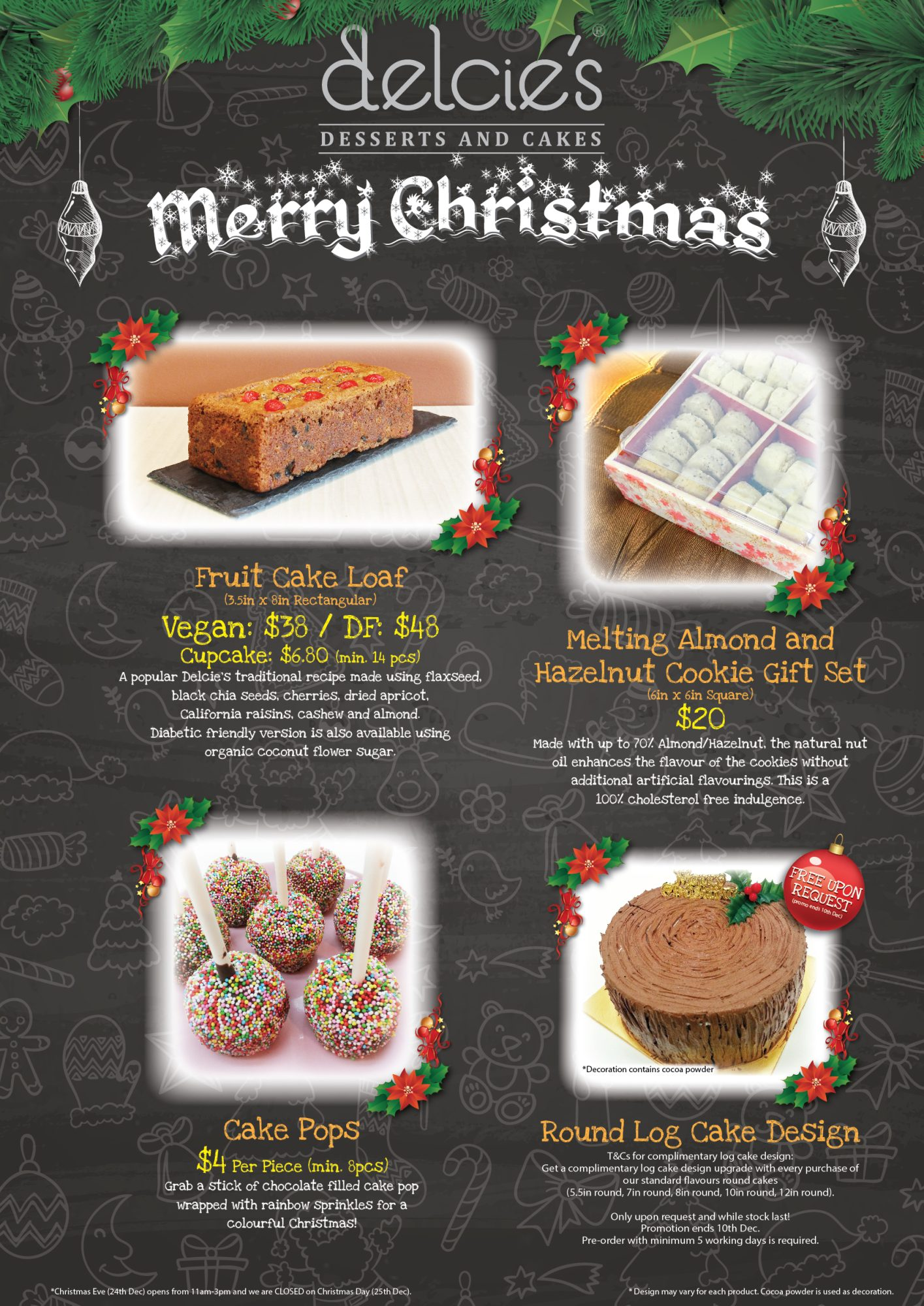 Cake Decorating Company Voucher Code : Christmas Log Cakes 2015   Delcies Desserts and Cakes