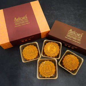 Delcie's Mooncake - Box of 4 Vegan, Diabetic Friendly Sugar Free packaging